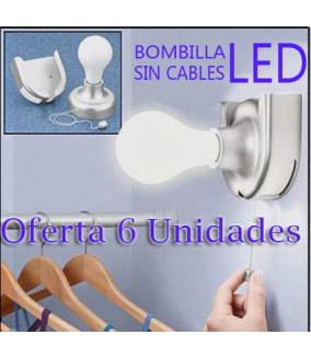 Bombilla Sin Cable Led Bulb (6 Unidades)