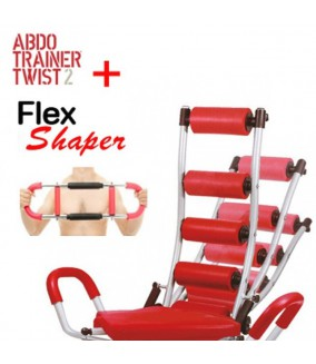 Banco Abdominales Abdo Trainer Twister + Flex Shaper