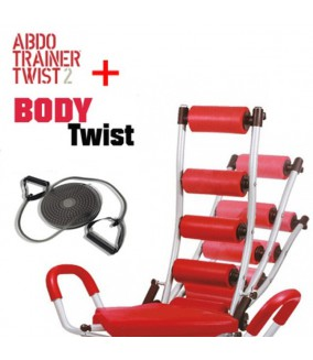 Banco Abdominales Abdo Trainer Twister + Body Twist