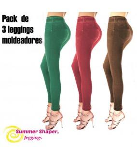 Slim Jeans Summer Shaper, Pack de 3 leggings moldeadores
