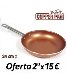 Sartén de Cobre Titanium Copper 24cm