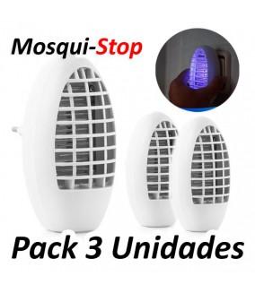 Pack 3 MosquiStop Lampara cazamosquitos eléctrica