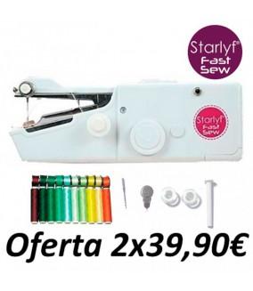 Máquina de coser pórtatil Starlyf Fast Sew + Set 10 bobinas