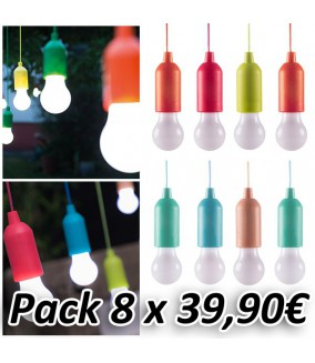 Bombillas Handy Led Colores (Pack 8 Unidades)