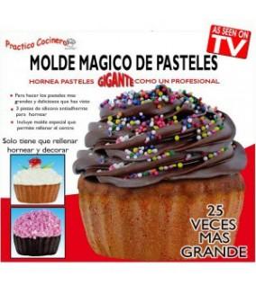Molde Cupcake Gigante, molde magico pasteles